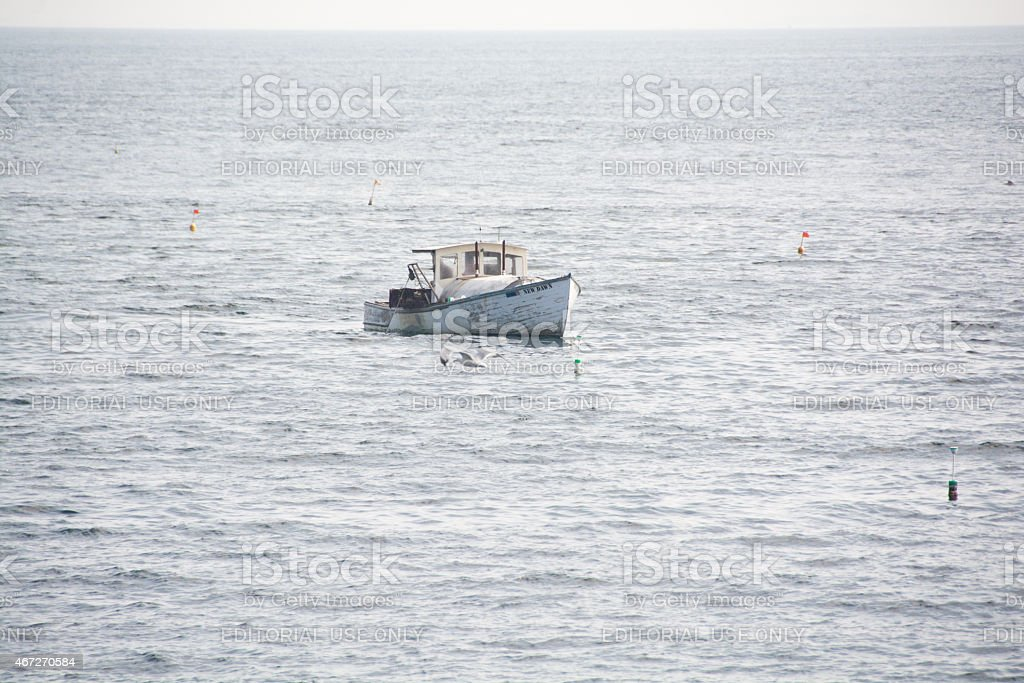 Lobster boat New Dawn stock photo