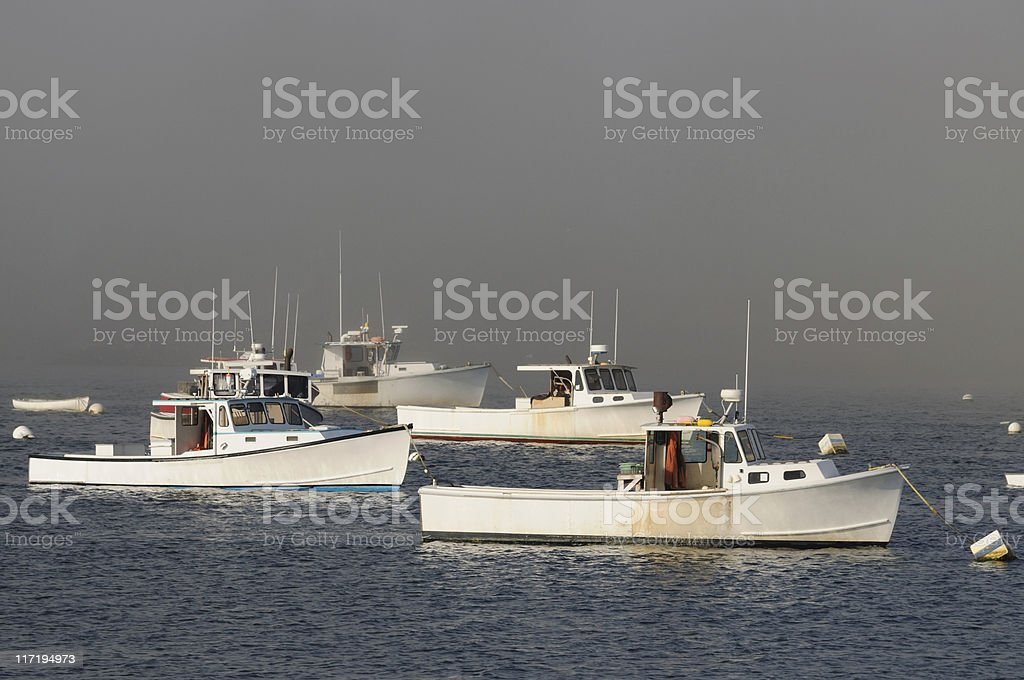 Lobster Boats, Maine stock photo