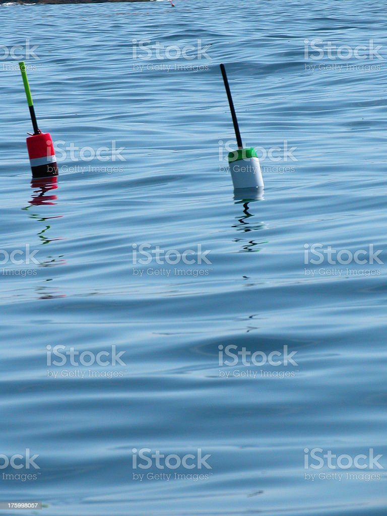 lobster bouys stock photo