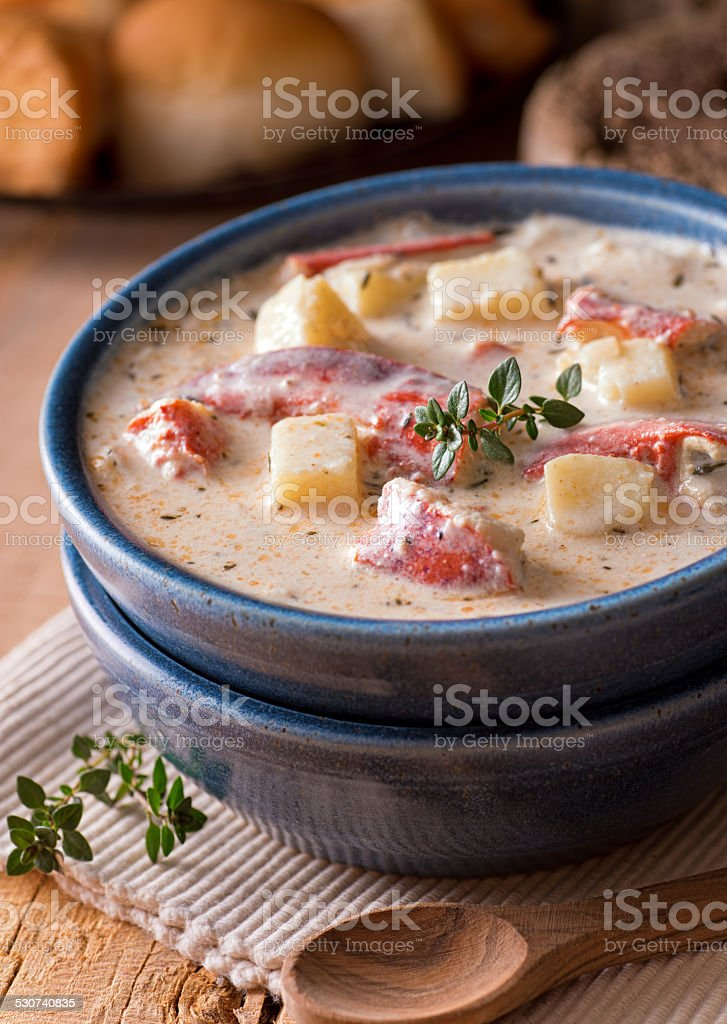 Lobster Chowder stock photo