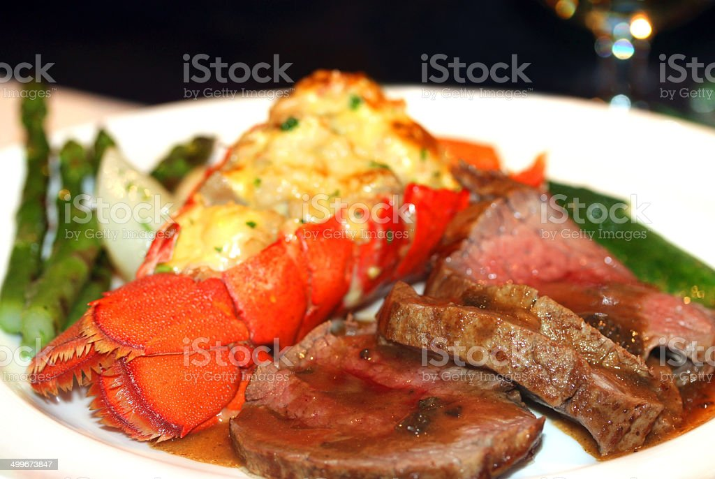 Lobster Dinner stock photo