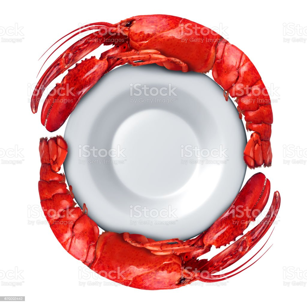 Lobster Dish stock photo