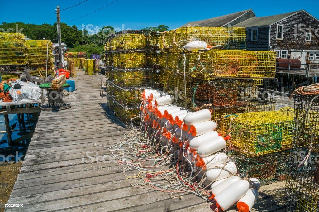 Lobster Equipment stock photo