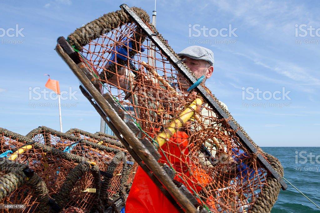 Lobster fisherman stock photo