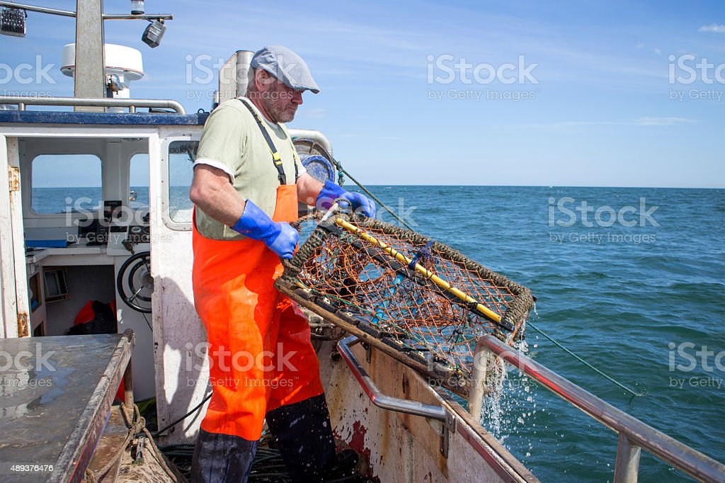 Lobster Fishing stock photo