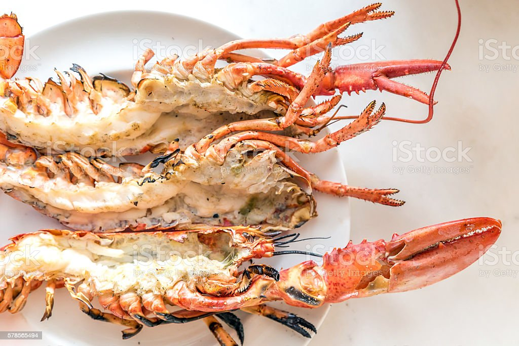 Lobster grilled stock photo