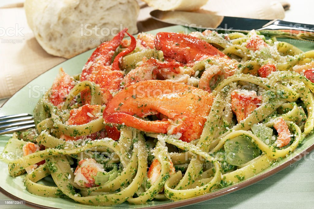 Lobster Linguini royalty-free stock photo