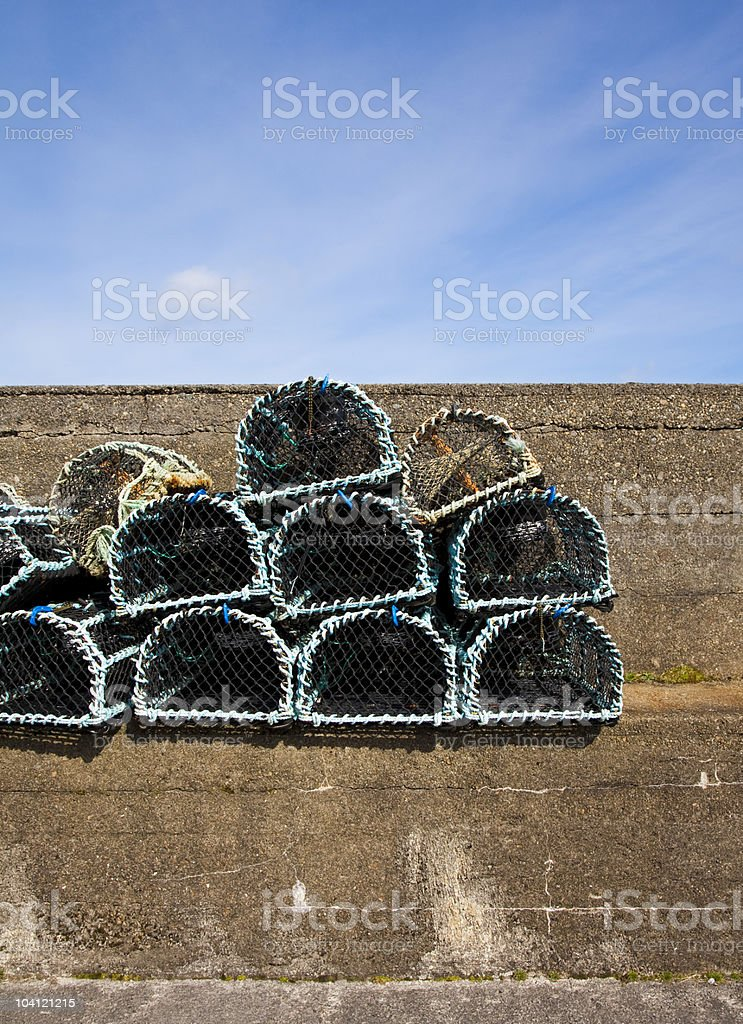 Lobster Nets stock photo