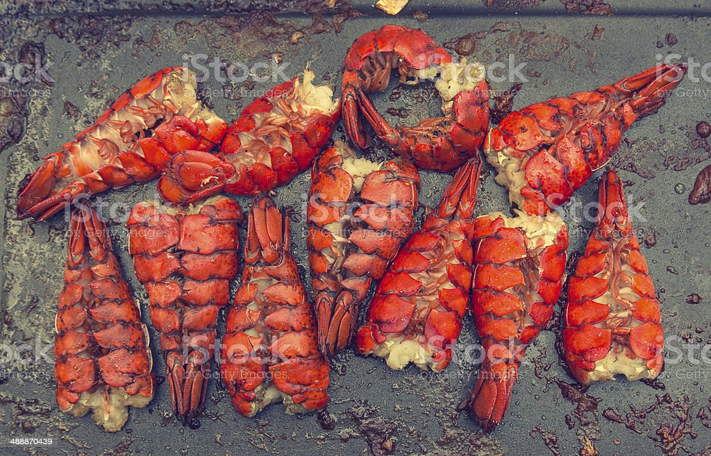 Lobster on a Grill stock photo