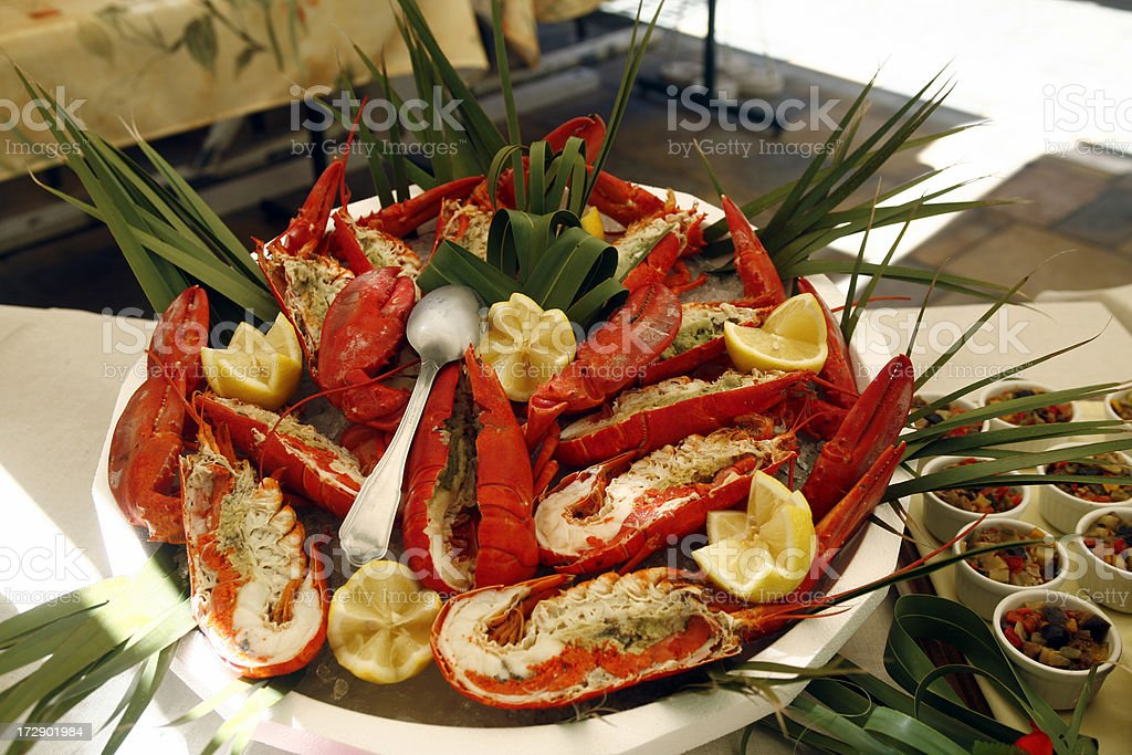 lobster plat stock photo