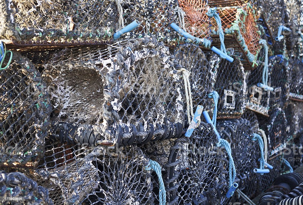 Lobster Pot Stack royalty-free stock photo