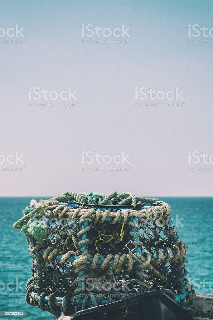 Lobster Pot with a view stock photo