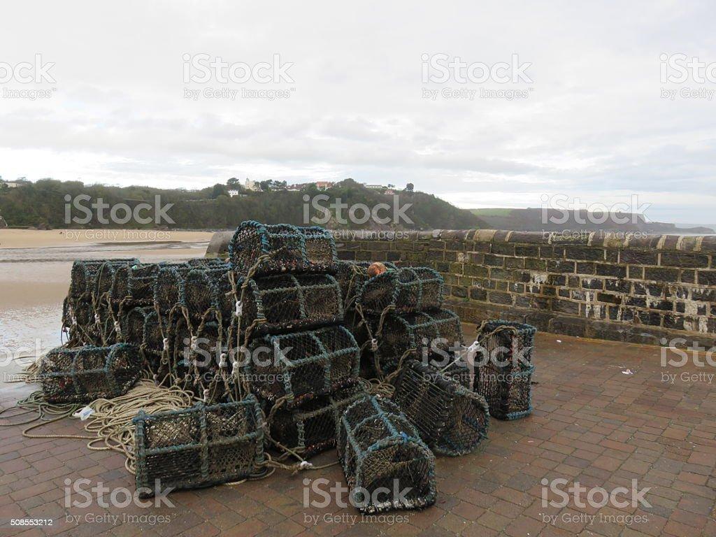 Lobster pot's Crab Pot's stock photo