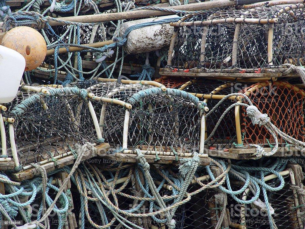 Lobster Pots I stock photo