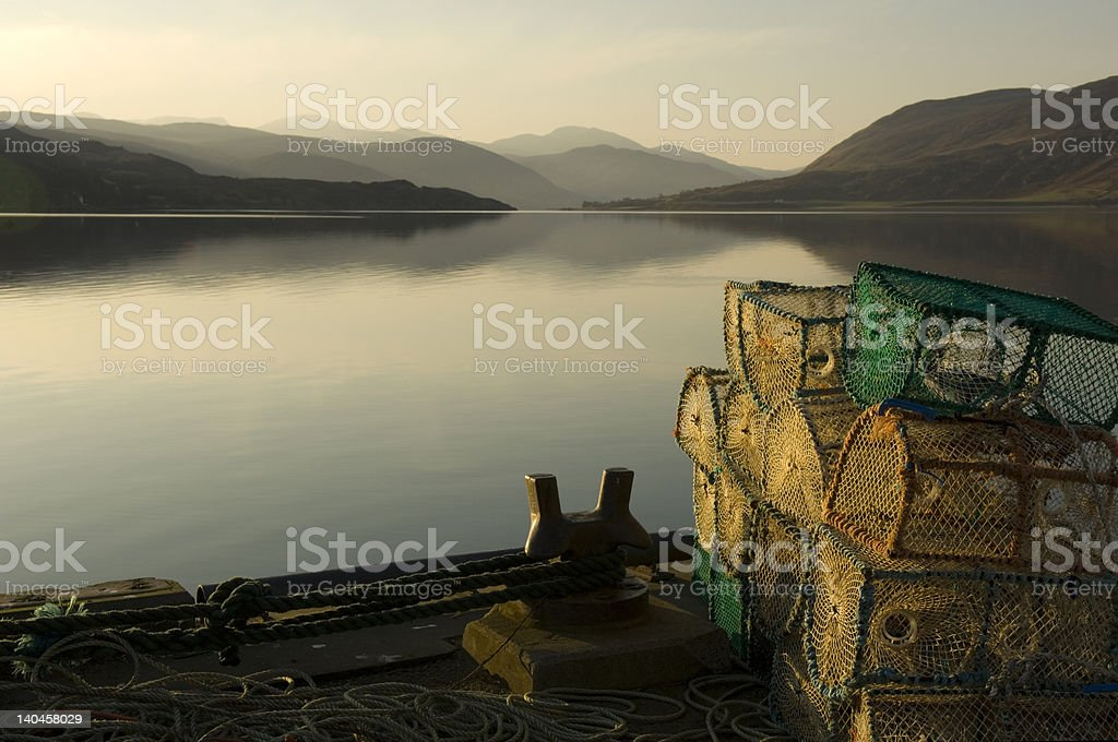 Lobster Pots royalty-free stock photo