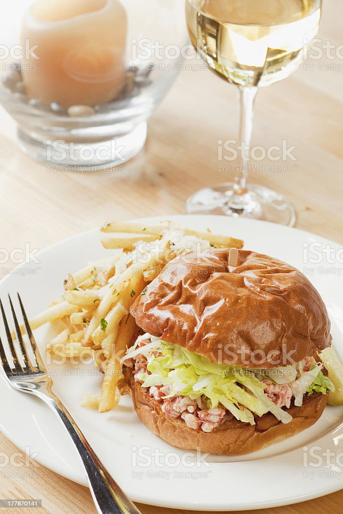 lobster roll sandwich stock photo