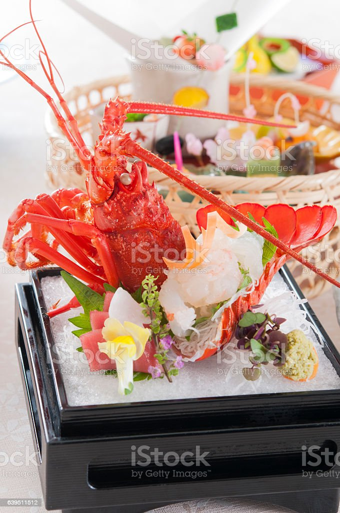 Lobster sashimi stock photo