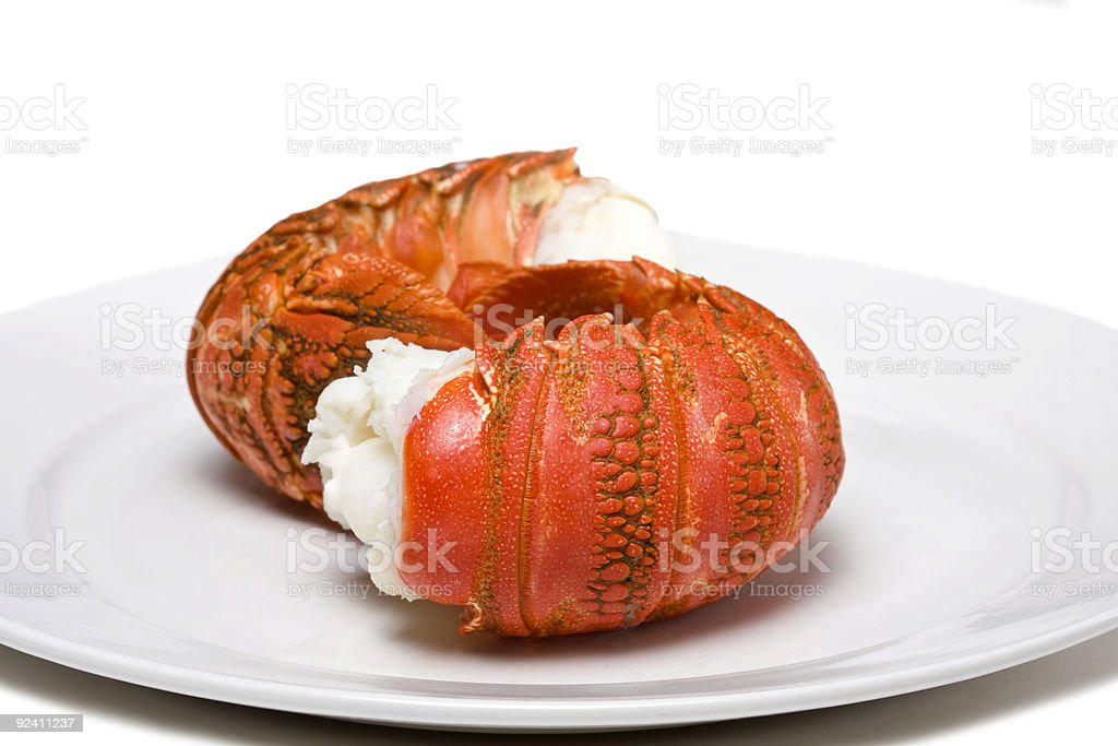 Lobster tails stock photo