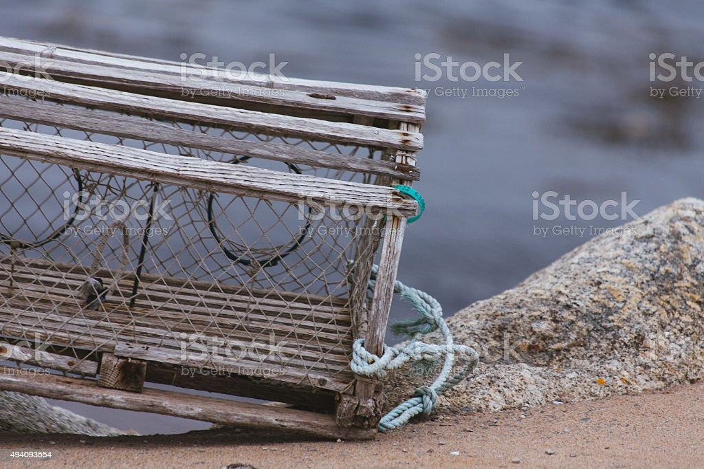 Lobster Trap stock photo