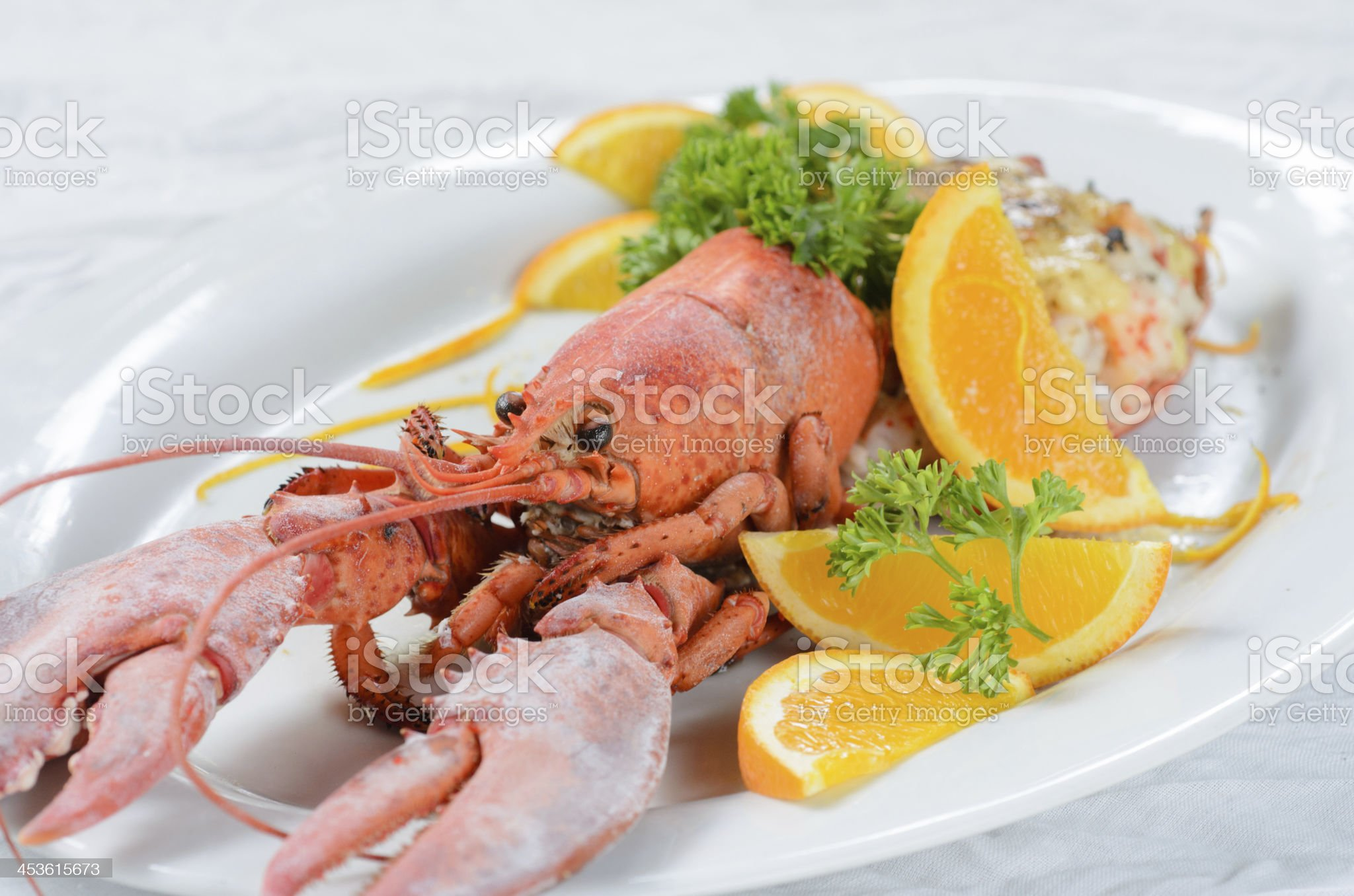 Lobster with cheese royalty-free stock photo
