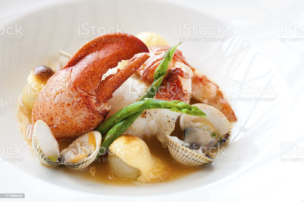Lobster with shellfish. royalty-free stock photo
