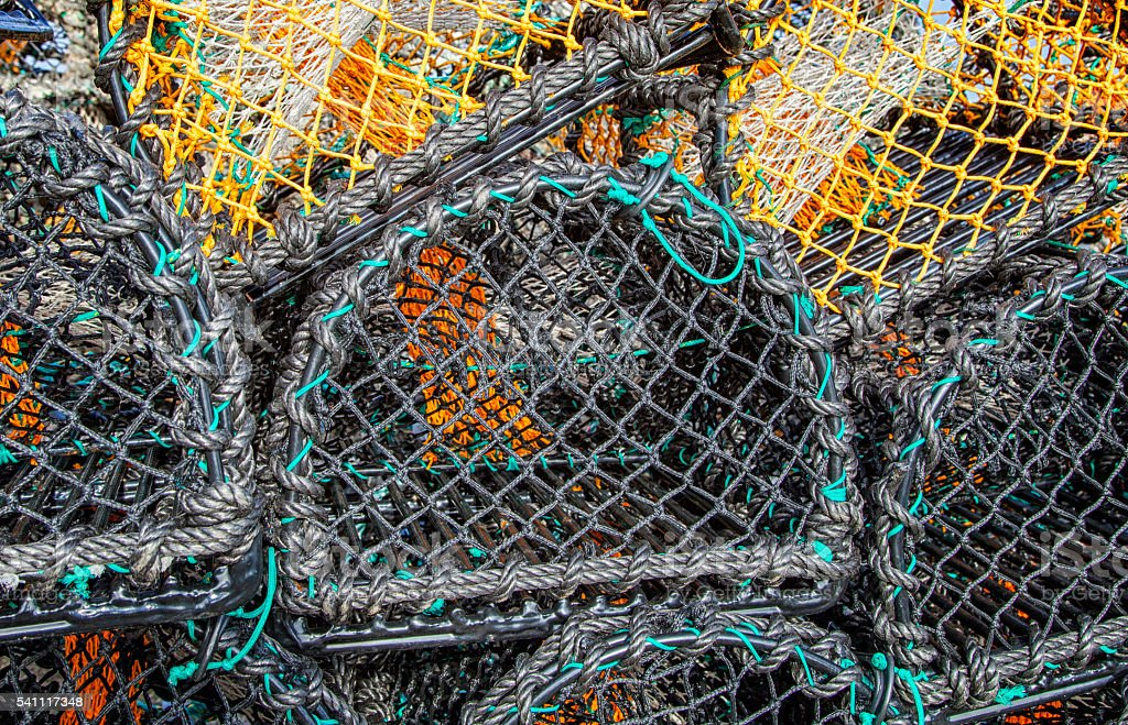 lobster/crab pots stock photo