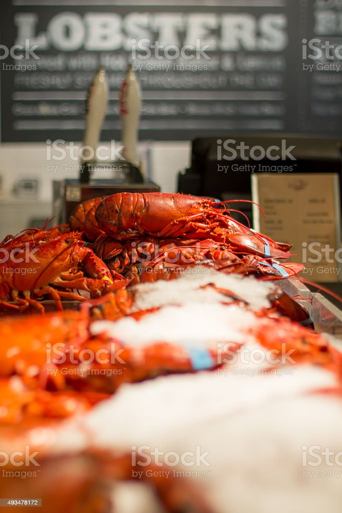 Lobsters stock photo