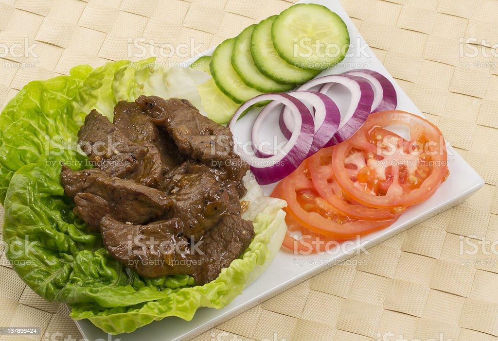 Loc Lac  (Shaking Beef) /  Filet Aperitivo royalty-free stock photo