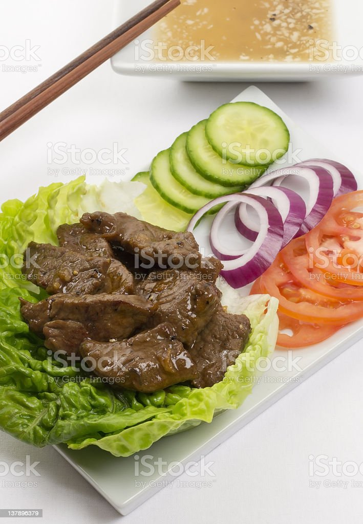 Loc Lac  - Shaking Beef royalty-free stock photo