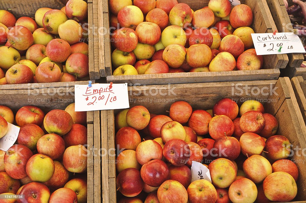 Local Apple Choice stock photo