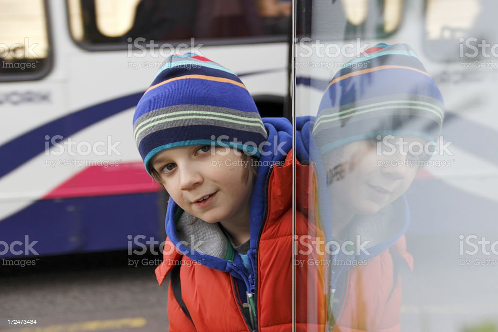 Local bus stop royalty-free stock photo