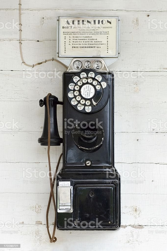 Local Calls Only royalty-free stock photo