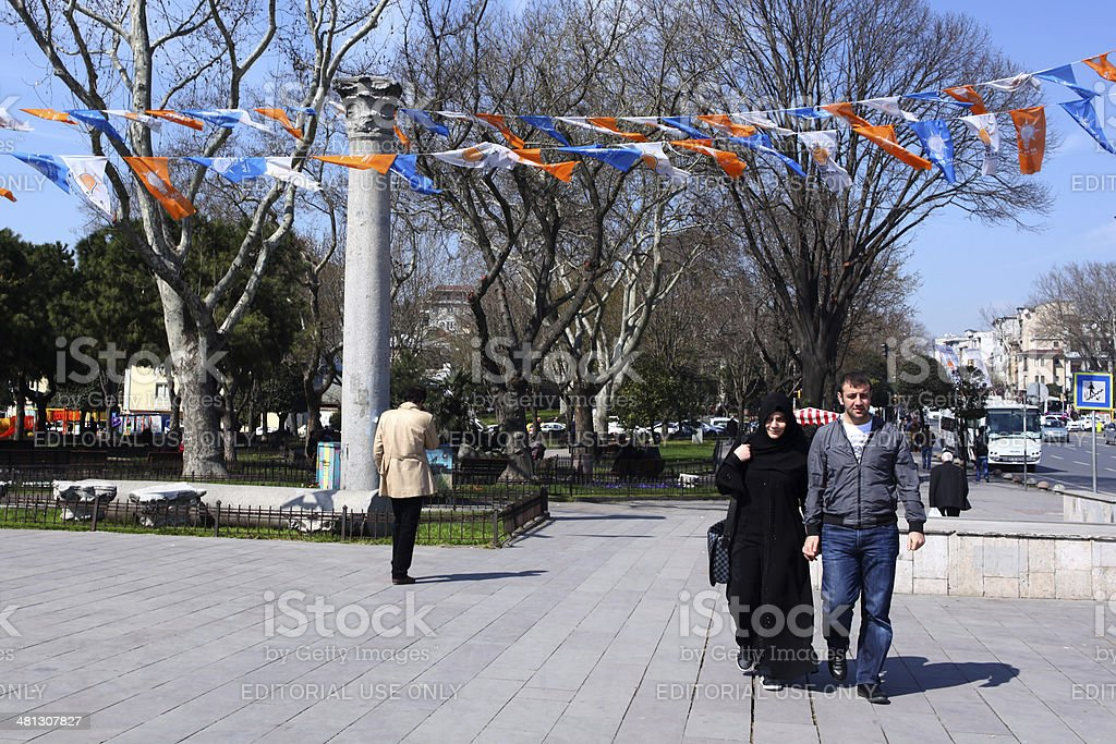 Die Wahlen in Istanbul Lizenzfreies stock-foto