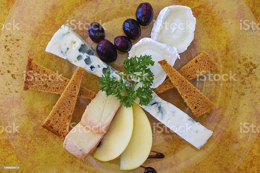 Local Fare Cheese Plate stock photo