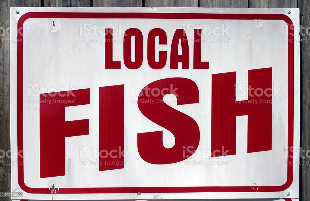 Local Fish Sign royalty-free stock photo