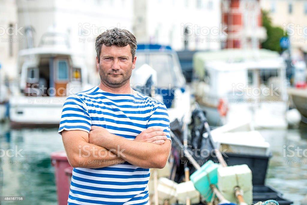 Local Fisherman Portrait stock photo