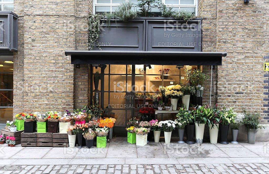 Local flower shop stock photo