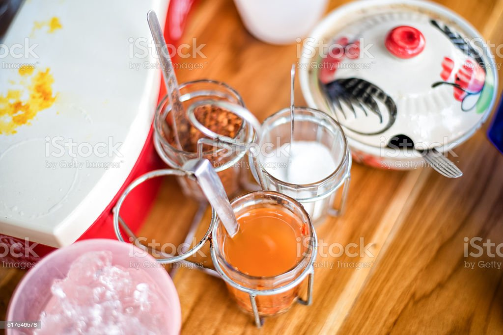 Local food in thailand. stock photo