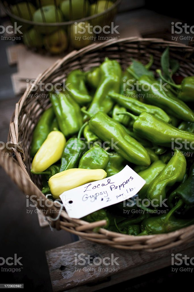 local gipsy peppers stock photo