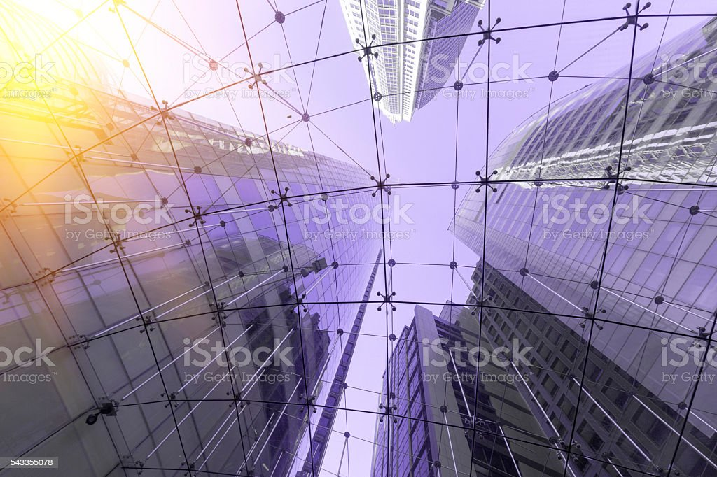 Local glass building stock photo