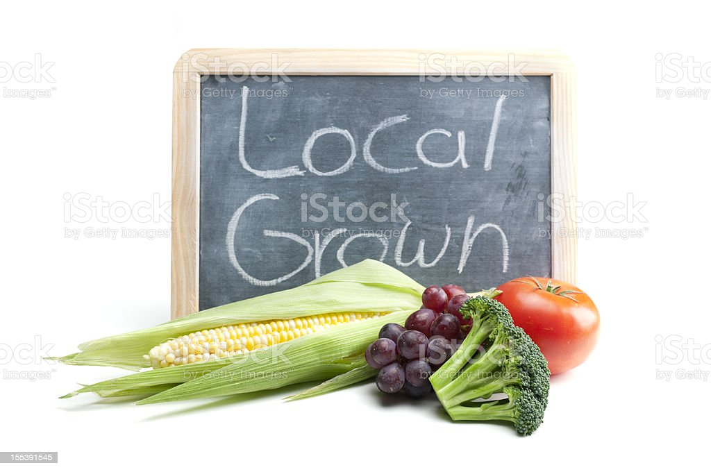 Local Grown Sign royalty-free stock photo