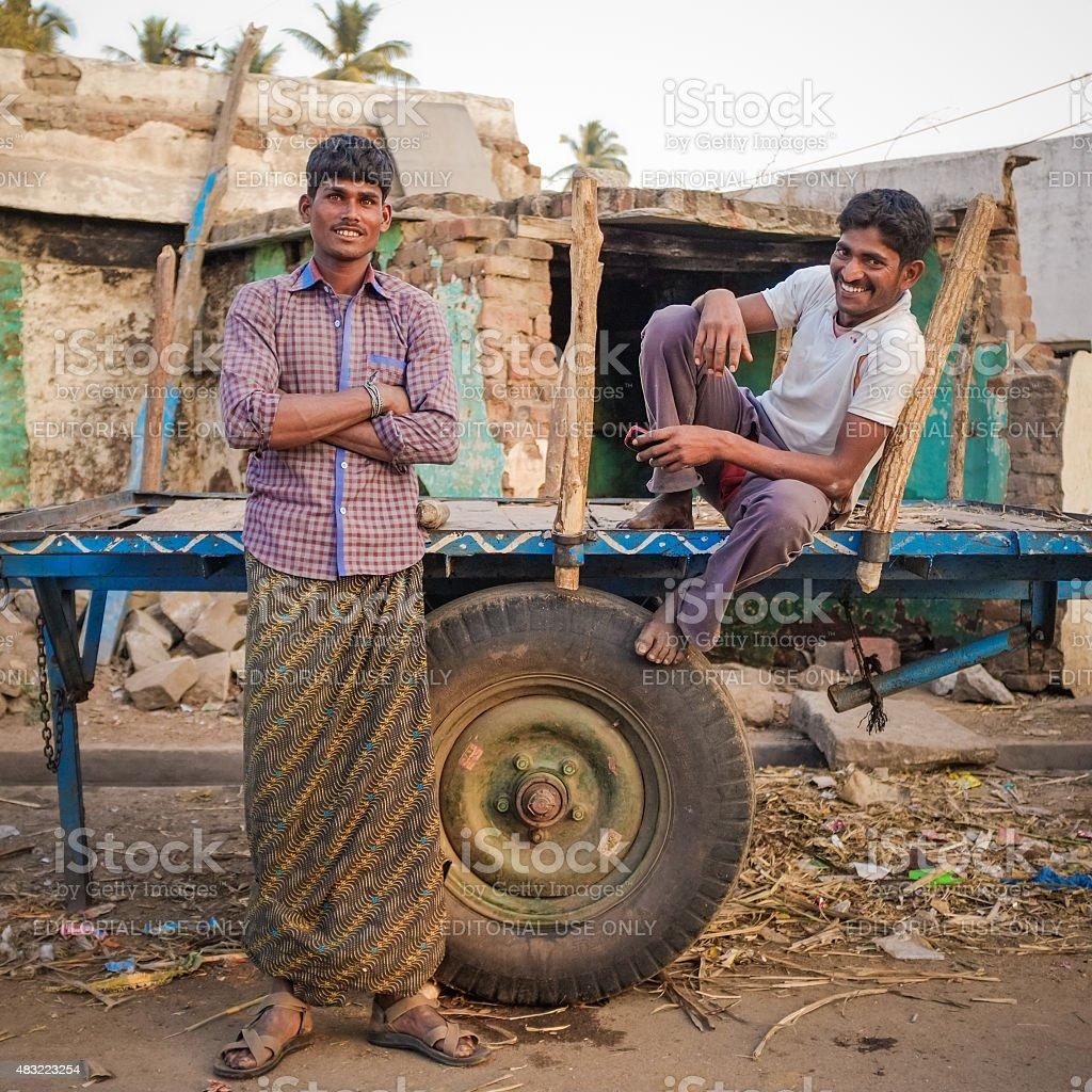 Local indian men stock photo