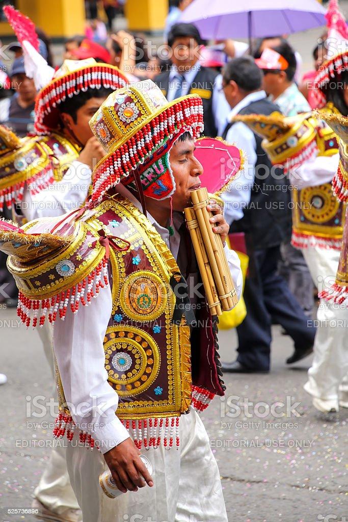 Local man dancing in Lima, Peru stock photo