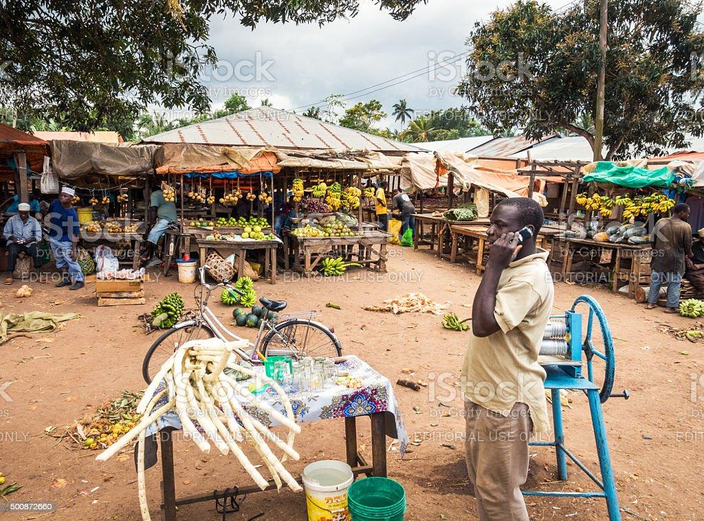 Local Market On Zanzibar Island stock photo