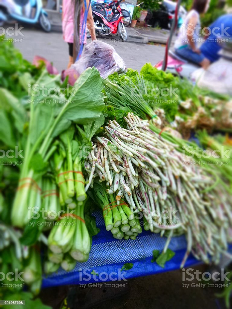 Local market stall stock photo