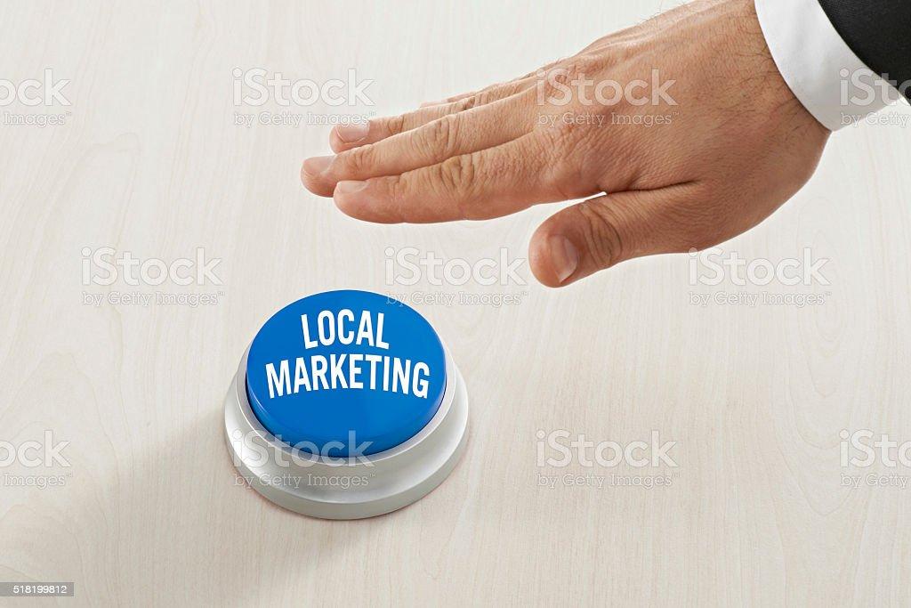 Local marketing button stock photo