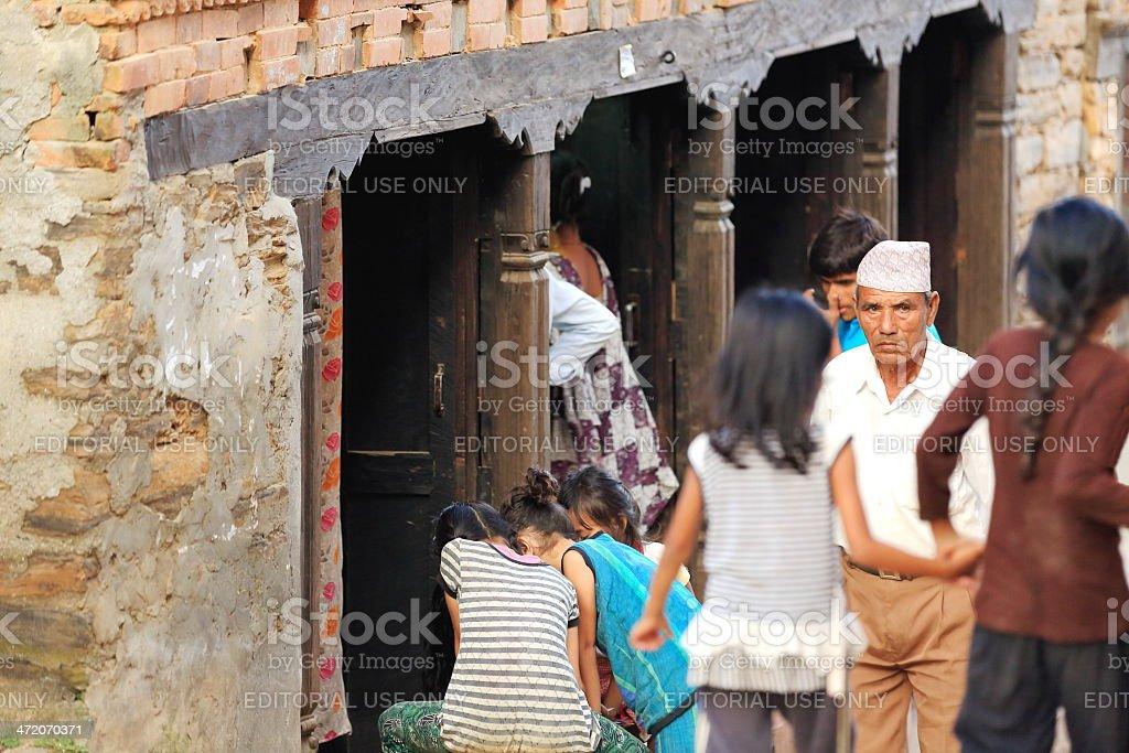 Local newar people in Bandipur-Nepal. 0384 stock photo