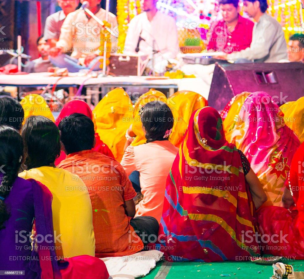local nightly street festical in Jodhpur stock photo