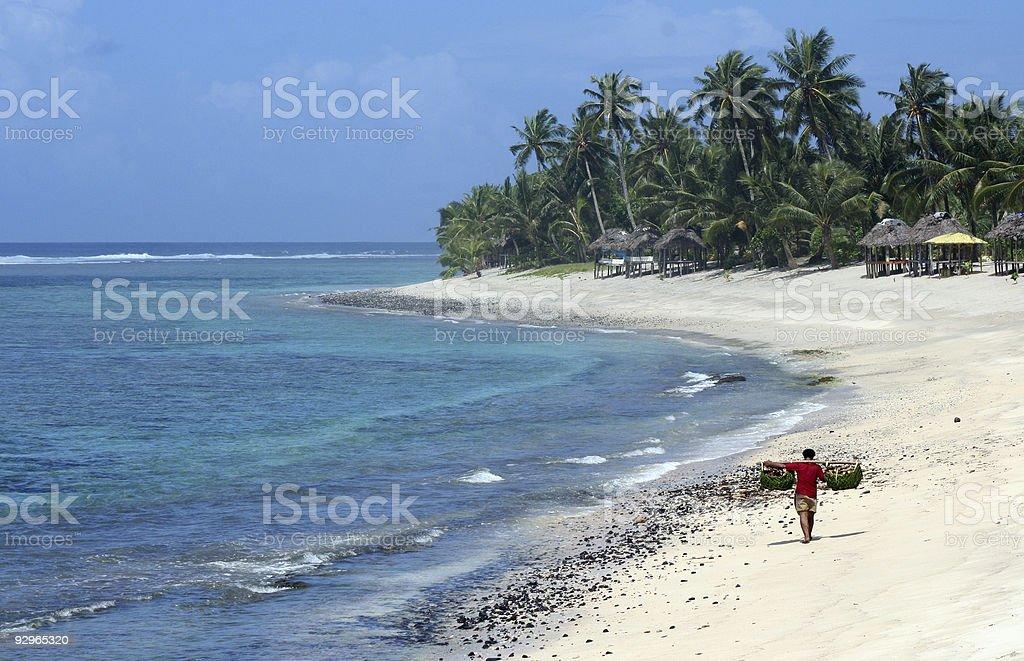 Local on the beach stock photo