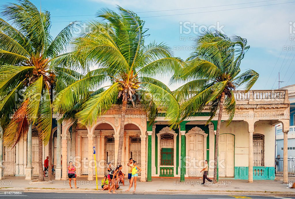 local people in Cienfuegos, Cuba stock photo